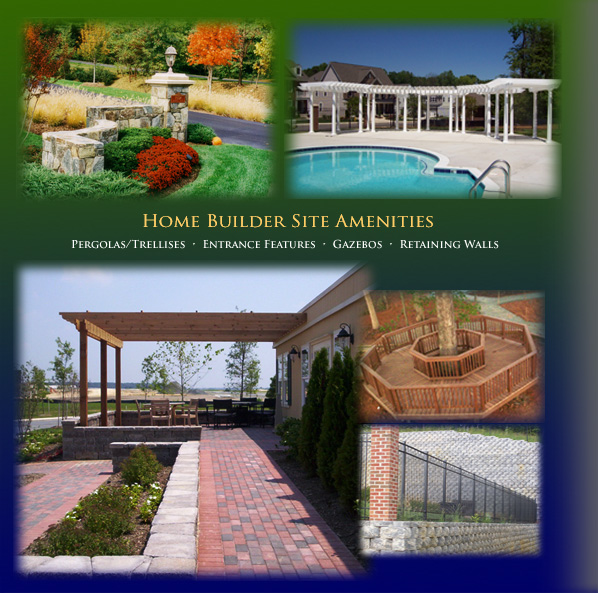 pergolas and trellises, entrance features, gazebos and retaining walls for Home Builders