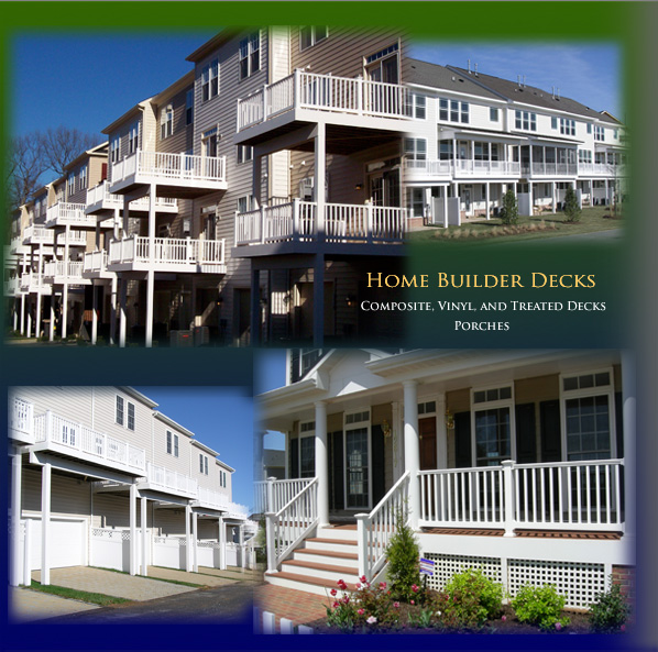 Composite, vinyl and treated decks, vibrance decking for condominiums