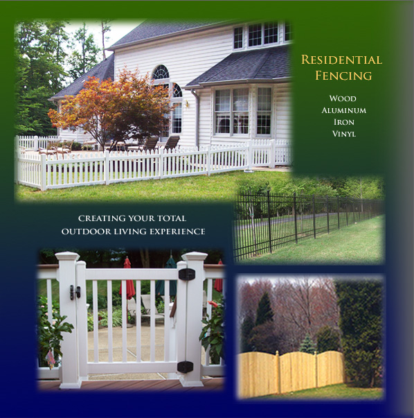 Wood, aluminum, iron and vinyl fencing for Residential customers
